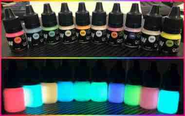 Tinta Glow Bisnaga C/ Aplicador. Brilha Sem Luz Negra