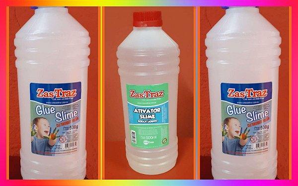 1 kg Cola Transparente Glue Slime. GRATIS 1 Ativador Slime 500gr GRATIS * PROMOCAO TEMPO LIMITADO