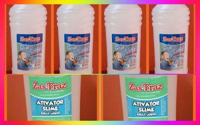 2 kgs Cola Transparente Glue Zas Tras Original + 1 kg Ativador Slime Original