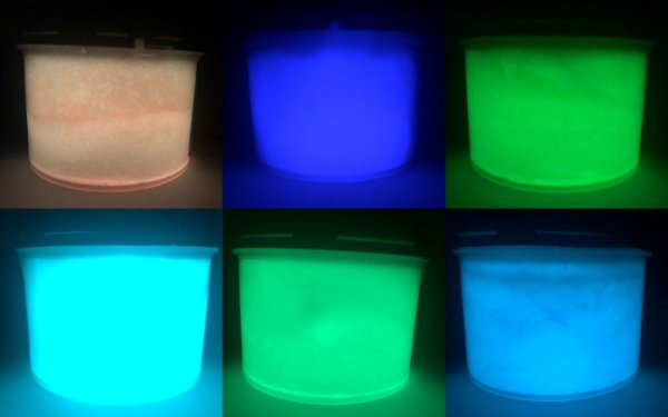Kit 10 Cores Pó Glow Corion 25gr + 10 Cores de Tinta Glow 50ml - Todas as Cores * Frete Gratis e Parcela