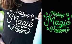 Kit Camiseta Tinta Glow Corion + Primer Branco Fundo Pote 25ml Para Fazer Camiseta que Brilha no Escuro Sem Luz Negra