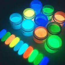 Unha, Pó Glow Corion 10gr Fosforescente Para Unha * Divs Cores* Brilham Sem Luz Negra*
