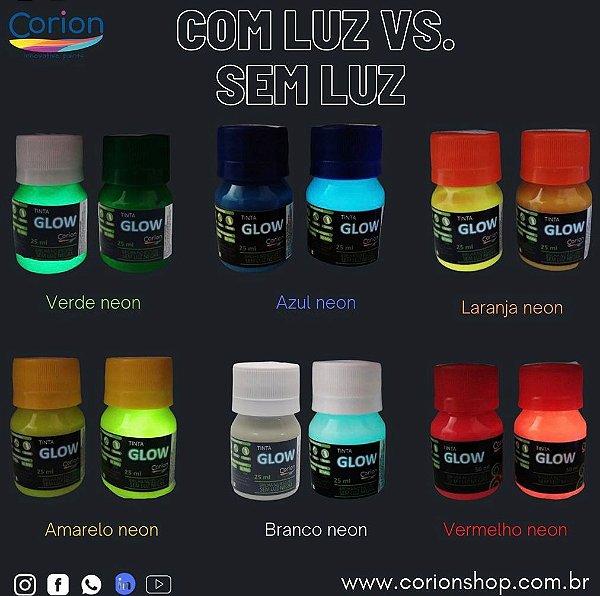 Kit Tinta Glow Corion 25ml + 1 Verniz + Primer de fundo