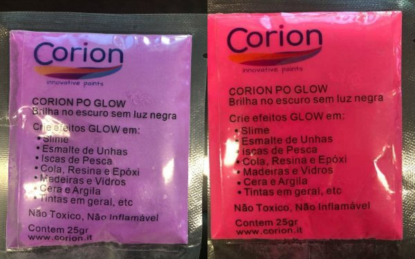 Kit 2 x Cores Pó Corion Glow 25gr Concentrado com Desconto Combo