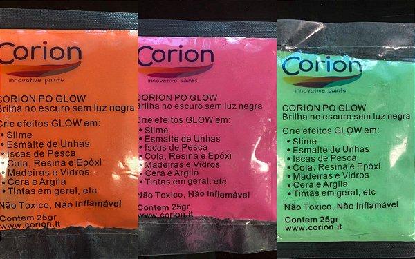 Kit 3 x Cores Pó Corion Glow 25gr Concentrado com Desconto Combo