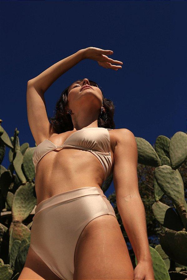 Conjunto Capri + Hot Pant Off White