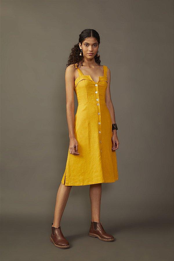 Vestido Açafrão Amarelo