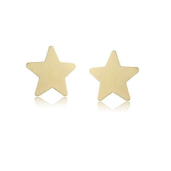 Brinco Estrela Folheado a Ouro