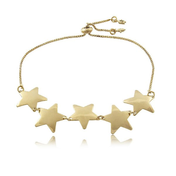 Pulseira Estrelas Folheada a Ouro