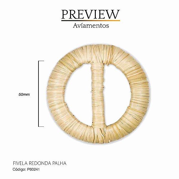 FIVELA REDONDA DE PALHA COM PASSANTE INTERNO 50MM / PCT C/ 10PC