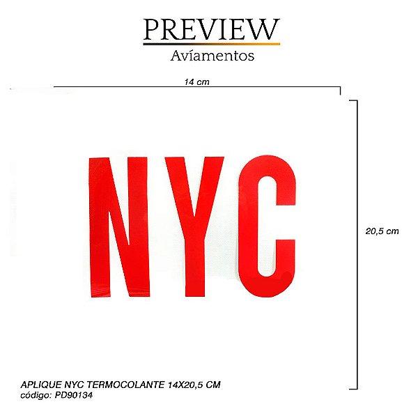 APLIQUE TERMOCOLANTE NYC / MÍNIMO: 5U / LARG. APROX.: 140MMx205MM