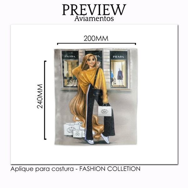APLIQUE PARA COSTURA FASHION COLLECTION / MÍNIMO: 5U / 220X240MM