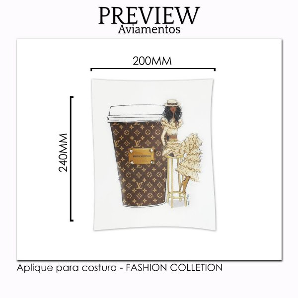 Aplique para costura FASHION COLLECTION/CUSTOMIZADO - Pct c/ 5 pc - 220x240MM - 100% Poliéster