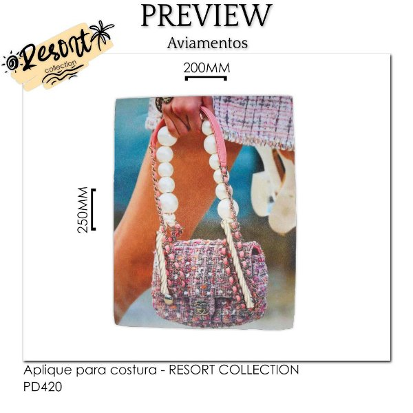 Aplique para costura RESORT COLLECTION - LISO / MÍNIMO: 10U / 220x220MM - 100% Poliéster