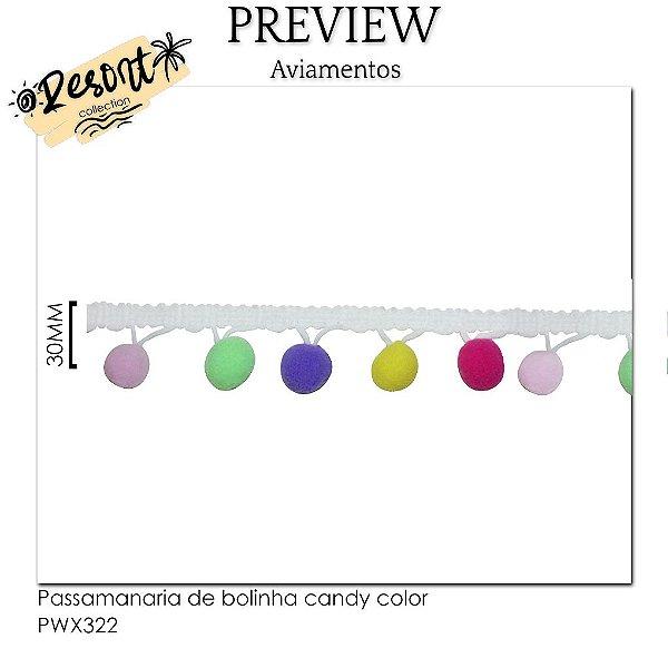 Passamanaria de bolinha candy color RESORT COLLECTION / MÍNIMO: 10M / 30MM