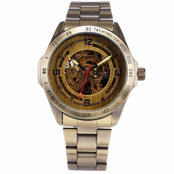 Relógio Esqueleto Shenhua Automático Sh-9889 com Pulseira de Metal