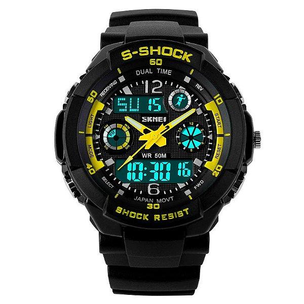 Relógio Skmei S-shock Amarelo
