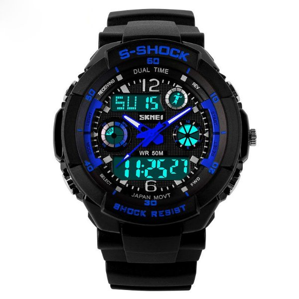 Relógio Skmei S-shock Azul