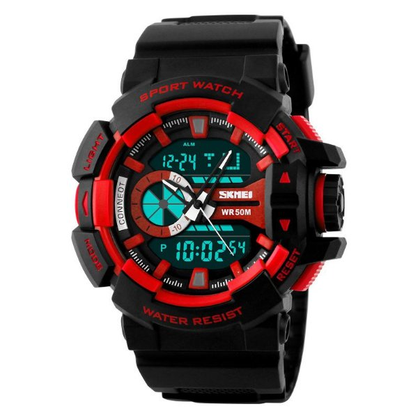 Relógio Skmei 1117 Dual Time Vermelho