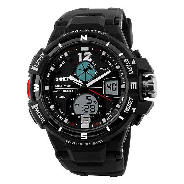 Relógio Skmei Sk-1148 Original Dual Time Branco