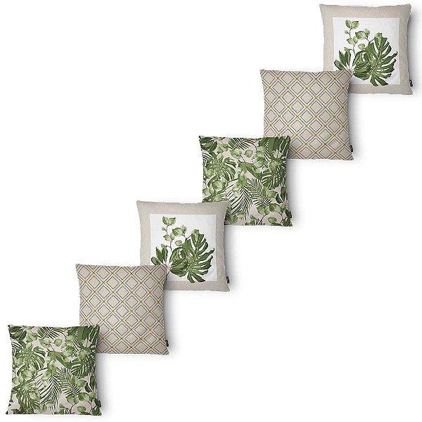 Kit 6 Capas Almofada Belchior Elegance Foliage 43x43 cm