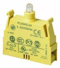 PL0045L24 BLOCO DE CONTATO COM LED BRANCO 24V GIOVENZANA