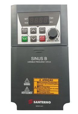 SINUS B PLUS 0003 2S BA1K2 INVERSOR DE FREQUÊNCIA MONOFÁSICO ZZ0131012 200-240V SANTERNO