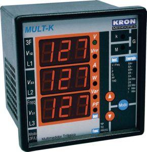 MULT-K 5A 500V 120/220VCA MULTIMEDIDOR DE ENERGIA Z009715511100 KRON MEDIDORES