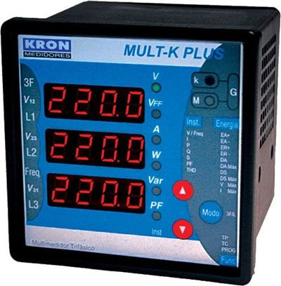 MULT-K PLUS MULTIMEDIDOR DE ENERGIA COM MEMÓRIA DE MASSA Z014815511100 KRON MEDIDORES