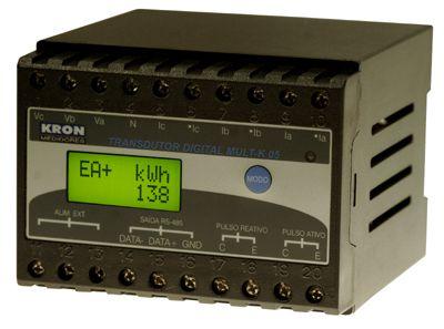 MULT-K 05 5A 500V 120/220V MULTIMEDIDOR DE ENERGIA Z021815511100 KRON MEDIDORES