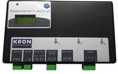 MULT-K 120 120A 500V 120/220VCA ENTRADAS DIGITAIS MULTIMEDIDOR DE ENERGIA Z03815215100 KRON MEDIDORES