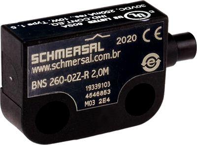 BNS 260-02Z-R 2,0M SENSOR MAGNÉTICO DE SEGURANÇA 19339103 SCHMERSAL