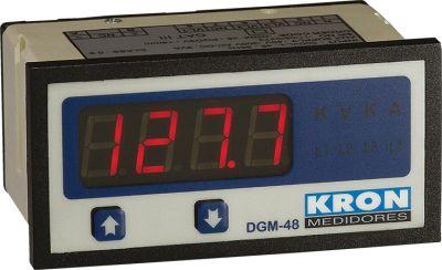 DGM48 AMPERÍMETRO DIGITAL 5A ALIMENTAÇÃO 40 A 300VCA/VCC D03GM48150010 KRON MEDIDORES