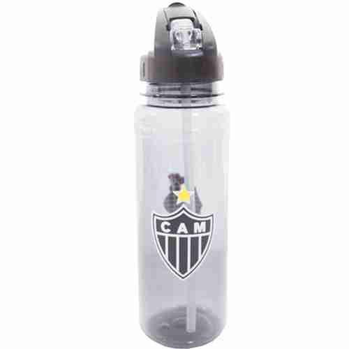 Garrafa De Plástico Com Canudo Retrátil 700ml - Atlético Mineiro