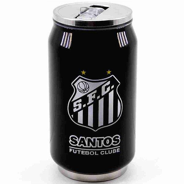 Copo De Inox Com Canudo 300ml - Santos