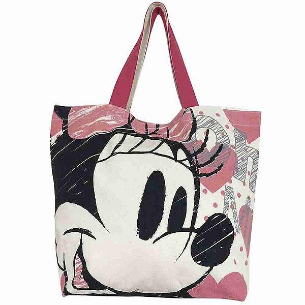Bolsa Shopping Bag Corações Minnie - Disney