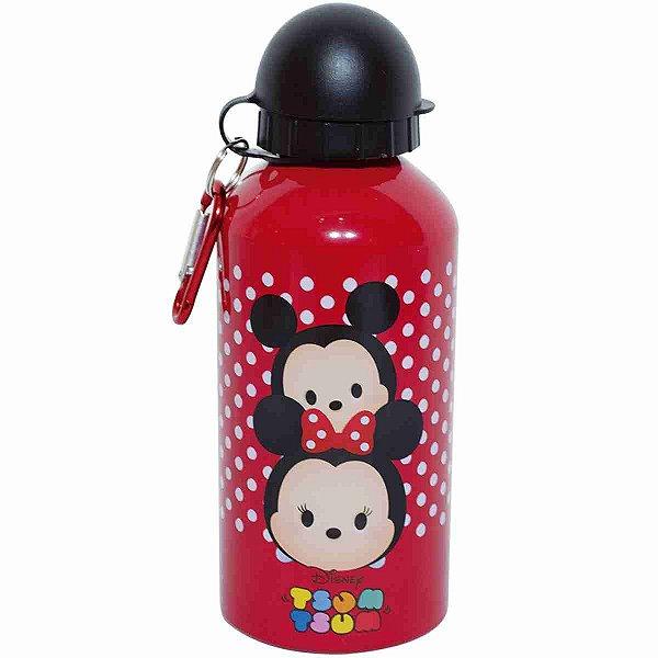Garrafa Vermelha De Alumínio Mickey & Minnie Tsum Tsum 500ml - Disney