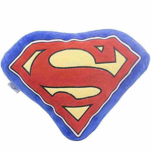 Almofada Formato Símbolo Super Homem (Fibra) - Liga Da Justiça