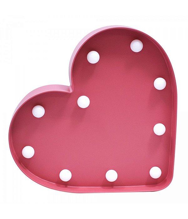 Luminária Coração Rosa 10 Lâmpadas