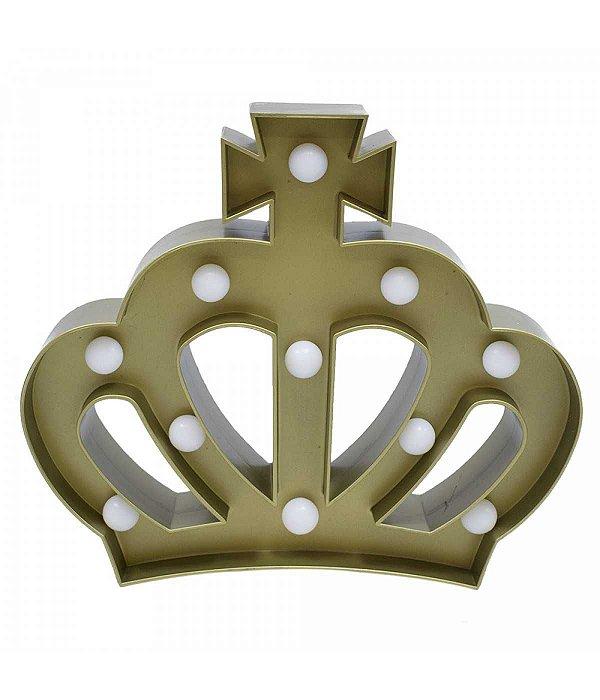 Luminária Coroa Dourada 11 Lâmpadas