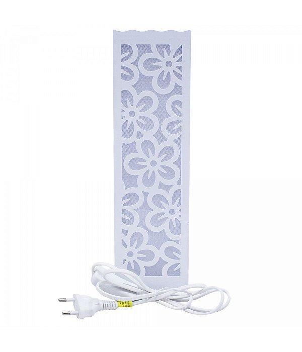 Luminária Torre Flores Brancas 33cm