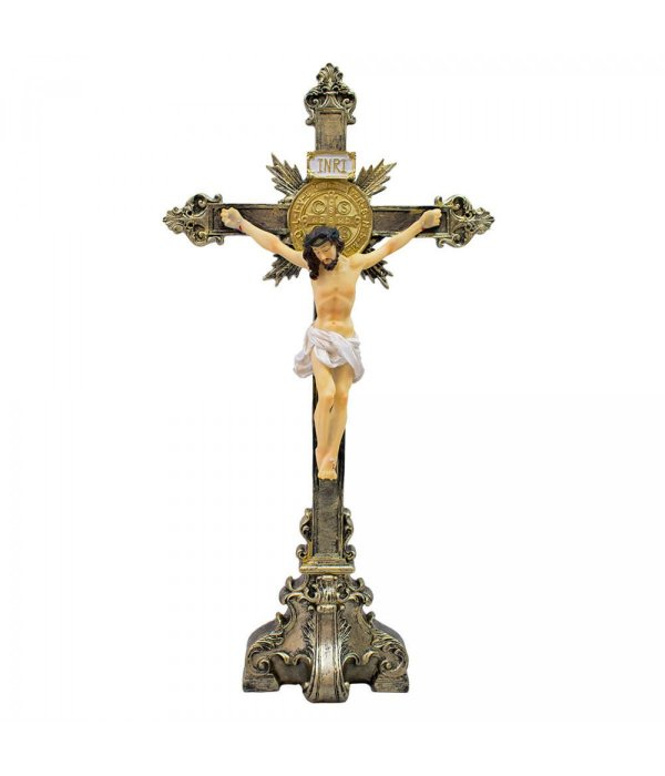 Crucifixo 55cm - Enfeite Resina