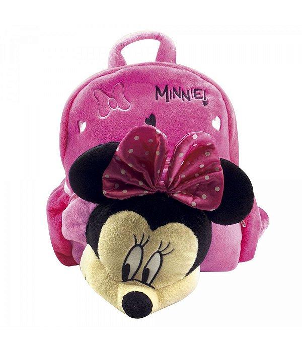 Mochila Com Minnie De Pelúcia - Disney