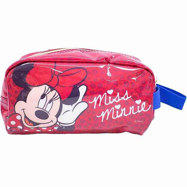 Necessaire Vermelho Miss Minnie 23X11cm - Disney