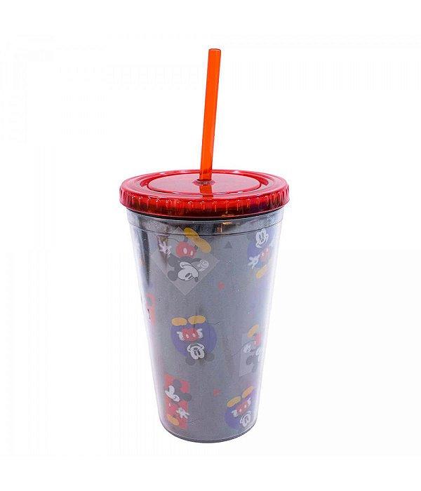 Copo Com Canudo Mickey 450ml - Disney