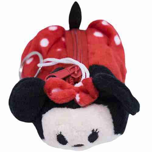Porta Moeda Pelúcia Formato Minnie Tsum Tsum - Disney
