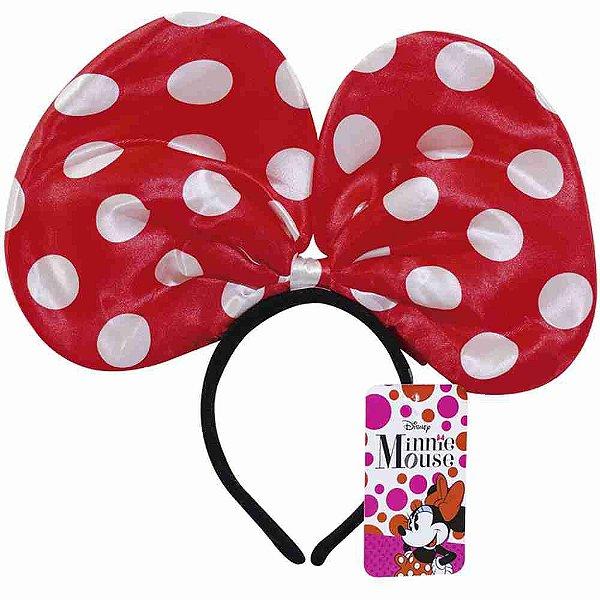 Tiara Minnie Com Laço Vermelho E Pontos Brancos - Disney