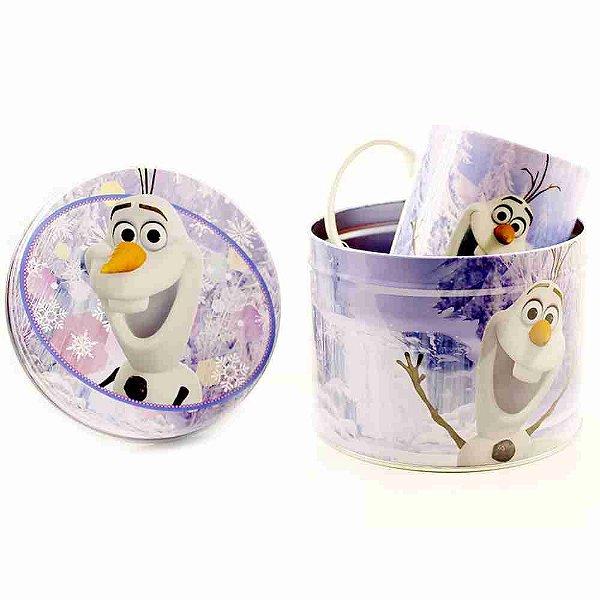 Caneca De Porcelana Na Lata 350ml Olaf Frozen - Disney