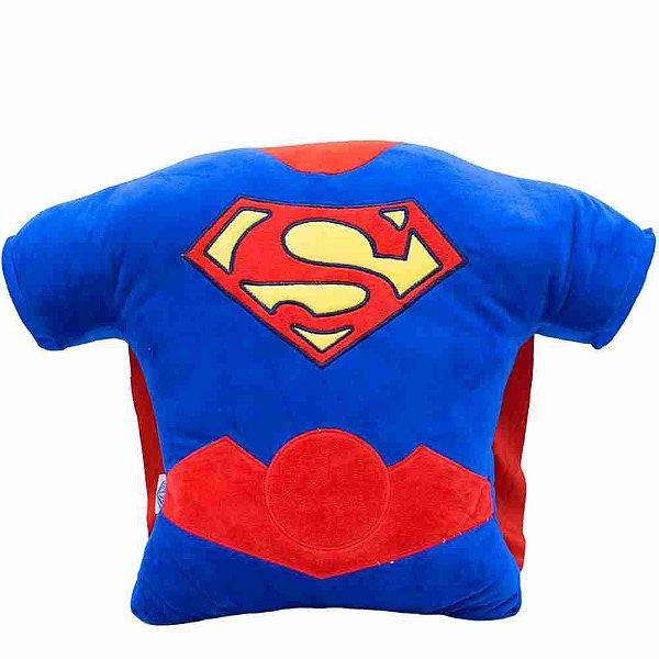 Almofada Fibra Formato Superman 40x14x56cm - Liga Da Justiça