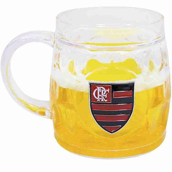 Caneca Cerveja Base Grossa 400ml - Flamengo